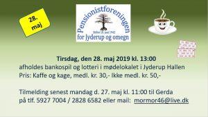 Banko i Pensionistforeningen @ Jyderup Hallen | Jyderup | Danmark