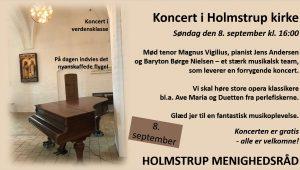 Koncert i Holmstrup kirke @ Holmstrup Kirke | Jyderup | Danmark