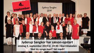 Opstart af korsæson - skal du synge med? @ Skarridsøsalen | Jyderup | Danmark