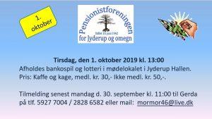 Pensionistforeningen holder bankospil og lotteri @ Jyderup Hallen | Jyderup | Danmark