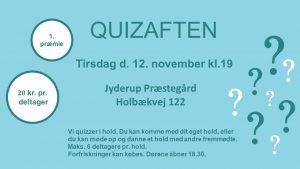 Quizaften i Jyderup @ Jyderup Præstegård | Jyderup | Danmark