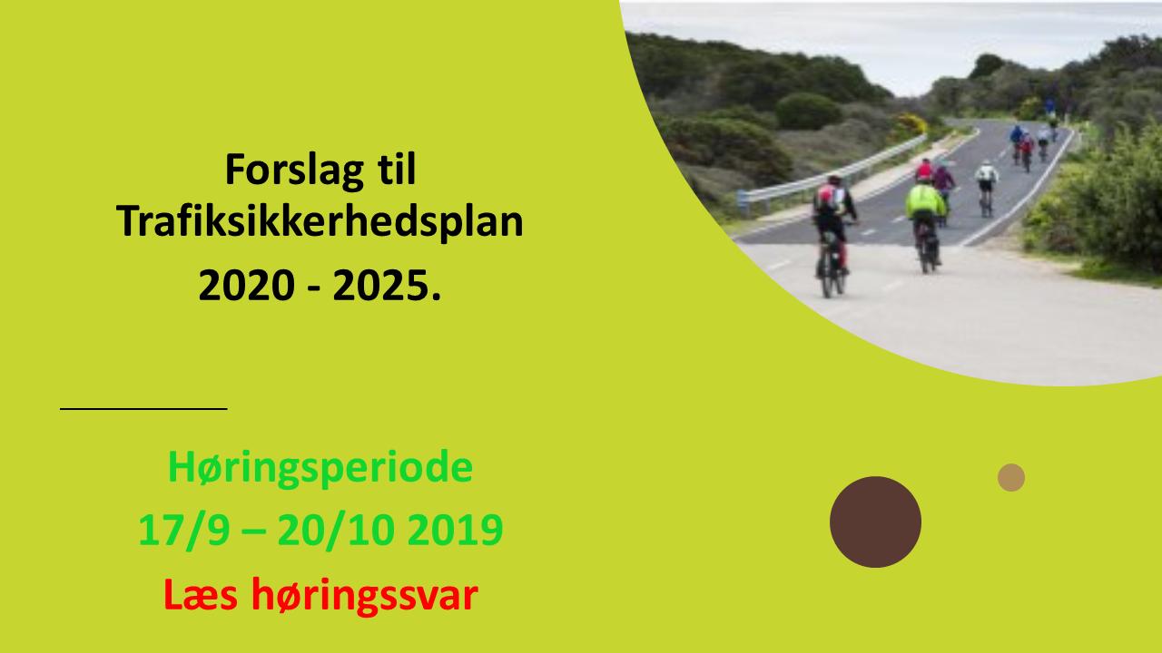 Høringssvar trafiksikkerhedsplan 2020