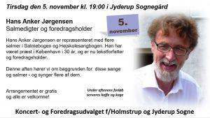 Hans Anker Jørgensen - salmedigter og foredragsholder @ Jyderup Sognegård   Jyderup   Danmark