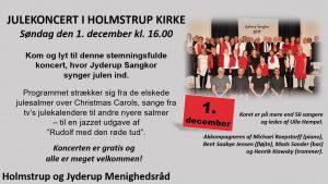 JULEKONCERT I HOLMSTRUP KIRKE @ Holmstrup Kirke | Jyderup | Danmark