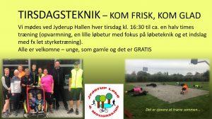 TIRSDAGSTEKNIK – KOM FRISK, KOM GLAD @ Mødested: Jyderup Hallen | Jyderup | Danmark
