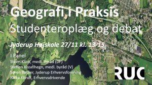 Hvordan ser byen ud, når et hold geografistuderende ser på byen? @ Jyderup Højskole | Jyderup | Danmark