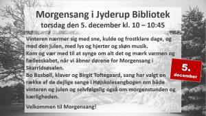 Morgensang i Jyderup Bibliotek @ Skarridsøsalen | Jyderup | Danmark