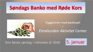 Søndags Banko med Røde Kors @ lmelunden Aktivitet Center