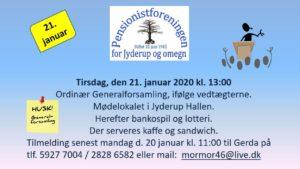 Ordinær Generalforsamling iPensionistforeningen @ Jyderup Hallen | Jyderup | Danmark