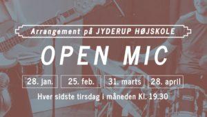 OPEN MIC PÅ JYDERUP HØJSKOLE @ Jyderup Højskole | Jyderup | Danmark