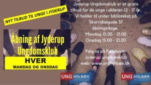 Jyderup Ungdomsklub - tilbud til alle unge mellem 13-17 år @ Under Jyderup Bibliotek | Jyderup | Danmark