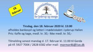 BANKO og lotteri @ Jyderup Hallen | Jyderup | Danmark