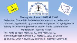 Bedemandens rolle ved et dødsfald @ Jyderup Hallen   Jyderup   Danmark
