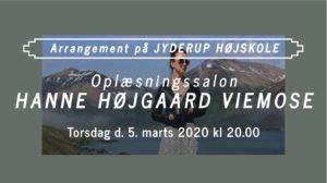 Oplæsningssalon på Jyderup Højskole - Hanne Højgaard Viemose @ Jyderup Højskole | Jyderup | Danmark