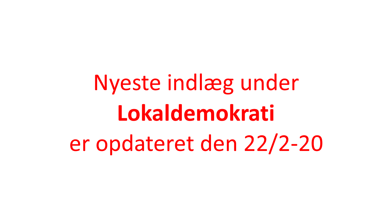 Opdater lokaldemokrati