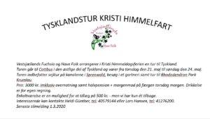 Tysklandstur med Vestsjællands Fuchsia og Have Folk