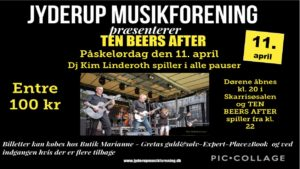 JYDERUP MUSIKFORENING præsenterer TEN BEERS AFTER @ Skarridsøsalen   Jyderup   Danmark