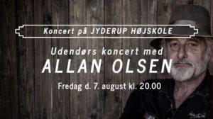 Udendørs koncert med Allan Olsen på Jyderup Højskole @ Jyderup Højskole | Jyderup | Danmark
