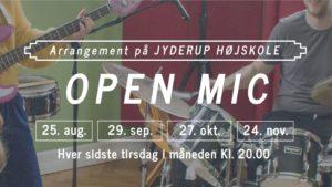 Open Mic på Jyderup Højskole @ Jyderup Højskole   Jyderup   Danmark