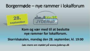 Nye rammer for lokalforum - Borgermøde @ Skarridsøsalen | Jyderup | Danmark