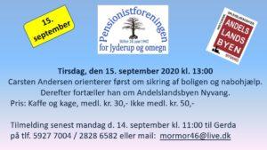 Pensionistforeningen for Jyderup og omegn inviterer...