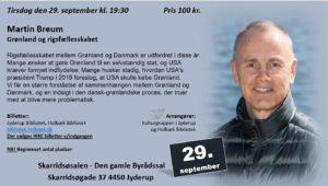 Foredrag om Grønland og rigsfællesskabet @ Skarridsøsalen | Jyderup | Danmark