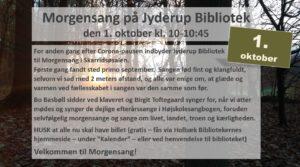 Morgensang på Jyderup Bibliotek @ Jyderup Bibliotek/Skarridsøsalen