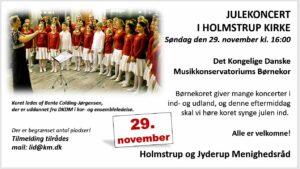 JULEKONCERT  I HOLMSTRUP KIRKE @ HOLMSTRUP KIRKE