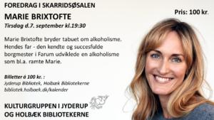 Foredrag af Marie Brixtofte @ Skaridsøsalen | Jyderup | Danmark