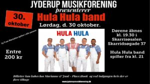 """JYDERUP MUSIKFORENING præsenterer """"Hula Hula band – En tribute til Bamses Venners musik"""""""